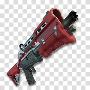 ilustração de rifle de assalto vermelho e preto, fortnite batalha royale combate espingarda, escudo fortnite png