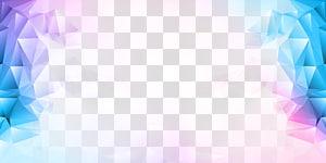 Ilustração de cristal grátis, cor de polígono, azul e roxo png