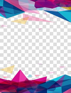 Ícone de geometria euclidiana, fundo geométrico irregular, arte geométrica multicolorida PNG clipart