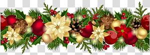 Guirlanda, guirlanda decorativa de Natal, ilustração de guirlanda floral multicolorida PNG clipart