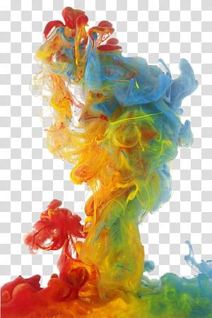Fumaça colorida, fumaça colorida, fumaça colorida vermelha, amarela, verde e azul PNG clipart