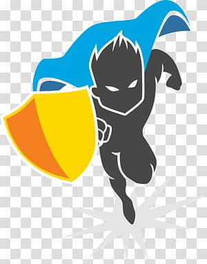 super-herói com ilustração de escudo, super-herói, super-herói png