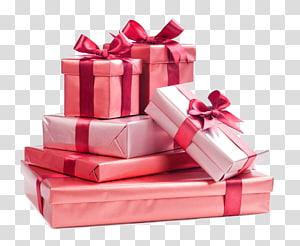 presentes com fitas empilhadas sobre fundo azul, presente de Natal, uma pilha de presentes de feriado png