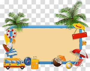 Férias de verão, férias de verão, ilustração de quadro png