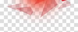 Material de fundo geométrico decorativo, arte digital geométrica vermelha PNG clipart