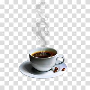 Café Espresso Latte Tea Cafe, Xícara de café branco png