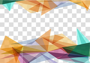 laranja e verde, triângulo polígono, material de fundo triângulo colorido PNG clipart