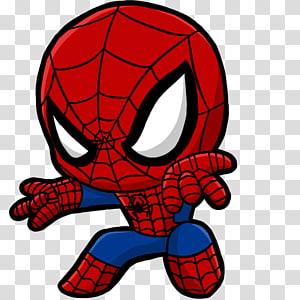 Homem-Aranha Wolverine Venom Chibi Marvel Comics, aranha, Marvel Spider-Man illustration png
