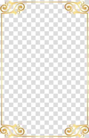 Ouro, elementos de padrão de borda de ouro, moldura de ouro png