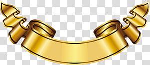Rótulo de ouro Banner logotipo, grande faixa de ouro, fita amarela PNG clipart