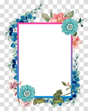 Borders and Frames Pintura em aquarela, pintados à mão belas fronteiras, ilustração de moldura floral png
