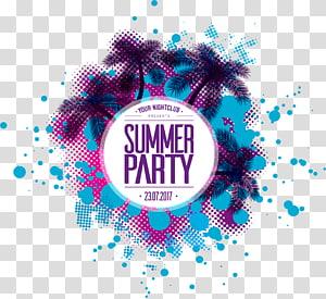 Anúncio da festa de verão, Fort Walton Beach Destin, festa na praia do verão png