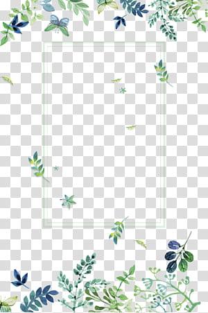 Verde, pequenas flores verdes frescas fronteira textura, borda de folhas verdes png