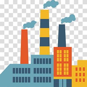 Ícone de fábrica, chaminé de fábrica de design criativo ícone, ilustração de fábrica multicolorida PNG clipart
