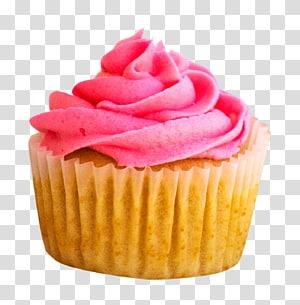Cupcake coberto de glacê rosa, Cupcake Muffin Bakery Bolo de chocolate, Cupcake png