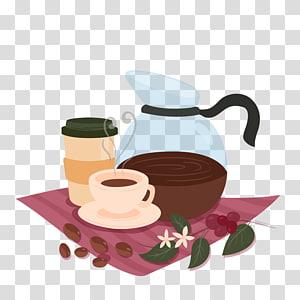 Chá Xícara de café Café café gelado, chá da tarde de inverno png