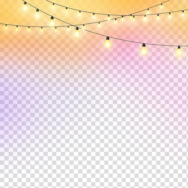Padrão de ângulo de piso leve, luzes noturnas, luzes de corda ativadas PNG clipart