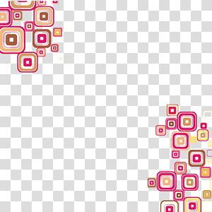 linha de borda rosa, marrom e branco, ícone quadrado, fundo gráfico quadrado abstrato colorido PNG clipart