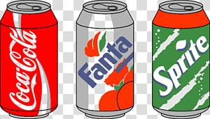ilustração de latas de Coca-Cola, Fanta e Sprite, anaconda cobra verde, cobra dos desenhos animados PNG clipart