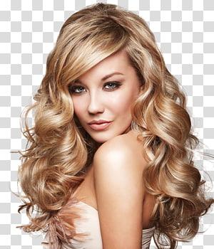 mulher vestindo top sem mangas bege, integrações de cabelo artificial salão de beleza penteado cuidados com o cabelo, cabeleireiro PNG clipart