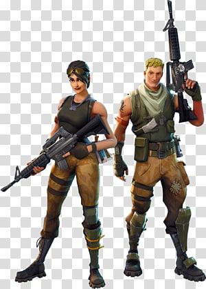 homem e mulher segurando rifle ilustração, fortnite batalha royale batalha royale jogo vídeo game personagem, outros png