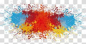 Cor, respingo de tinta, pintura abstrata PNG clipart