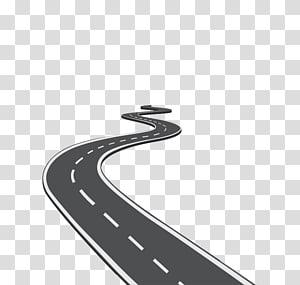 estrada de veículo preto em espiral, ícone de estrada, estrada sinuosa criativa png