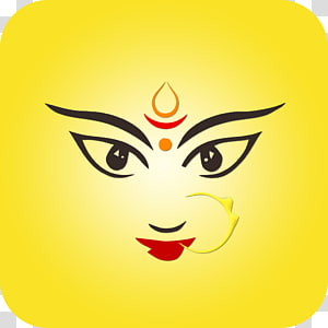 desenho de rosto de maquiagem, Durga Puja Devi Drawing, Durga Maa PNG clipart