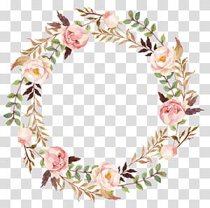 Convite de casamento guirlanda de papel, grinalda de flores, grinalda de flores de peônia verde e rosa png