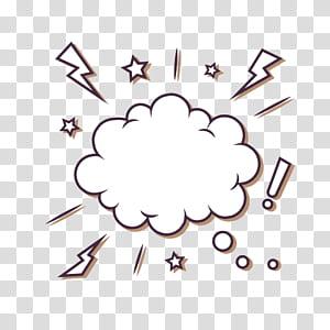 Bolha balão de fala nuvem euclidiana, estrelas relâmpago nuvem texto bolha, ilustração de nuvem de diálogo png