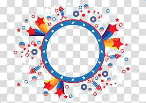 Ícone de círculo euclidiano, banners, estrelas brancas, vermelhas e azuis PNG clipart