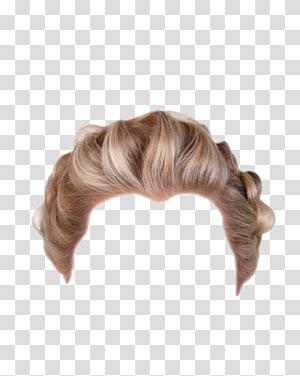 ilustração de peruca de cabelo morena, peruca de penteado loiro, peruca de cabelo curto PNG clipart