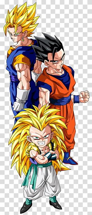Gohan, Vegito e Gotenks, Gohan Gotenks Vegeta Majin Buu Goku, Dragon Ball Z png