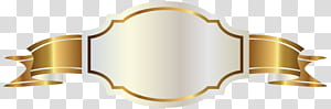 Banner Gold, White Label e Gold Banner, fita ouro logotipo PNG clipart
