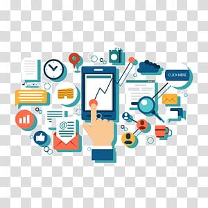 mídias sociais, marketing digital Estratégia de marketing empresarial Marketing de mídia social, ilustração de marketing PNG clipart