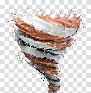 ilustração de mistura de chocolate e leite, café Chocolate Macaroon, rotação de efeito de respingo de Chocolate PNG clipart