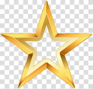 Estrela, estrela dourada, ilustração estrela amarela PNG clipart