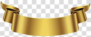 Banner, faixa dourada, arte gráfica de fita de ouro PNG clipart