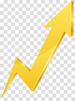 seta, ícone do logotipo de seta, seta amarela para cima PNG clipart