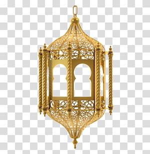 Ramadan Islam Eid Mubarak Eid al-Fitr, lâmpadas islâmicas, ilustração de lâmpada de cor bronze png