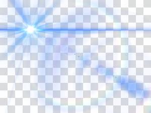 Triângulo claro azul celeste, efeito de brilho da lente azul PNG clipart