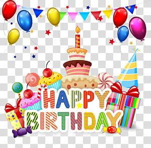 Bolo de aniversário Cupcake Cartoon, feliz aniversário, feliz aniversário temático png