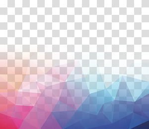 ilustração abstrata, triângulo padrão, sombreamento colorido PNG clipart