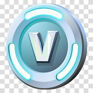 rodada branca e azul v ilustração do logotipo, fortnite batalha royale xbox um, v dólares png