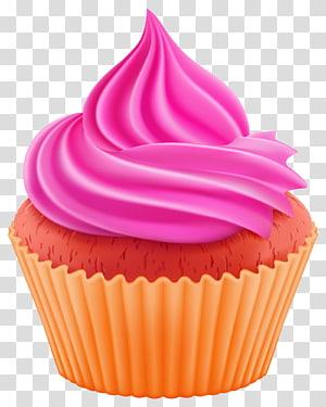 ilustração de cupcake, bolinho Brownie de chocolate Ganache Torte baunilha, cupcake png