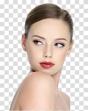 Salão de beleza cosméticos modelo massagem, lábios modelo feminino, retrato de mulher PNG clipart