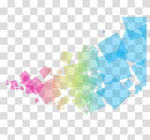 Geometria, quadrados coloridos, ilustração de cores sortidas PNG clipart