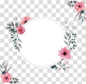 Moldura de convite de casamento, uma borda rosa de água, rosa floral png