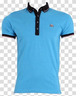 camisa polo azul e preta, camiseta pólo Vestuário, camisa polo PNG clipart