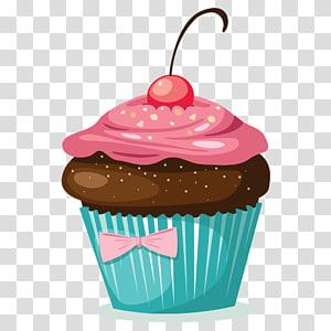 ilustração de cupcake, Cupcake Teacake Birthday cake Bolos tradicionais Pão de ló, cupcakes de chocolate FIG png